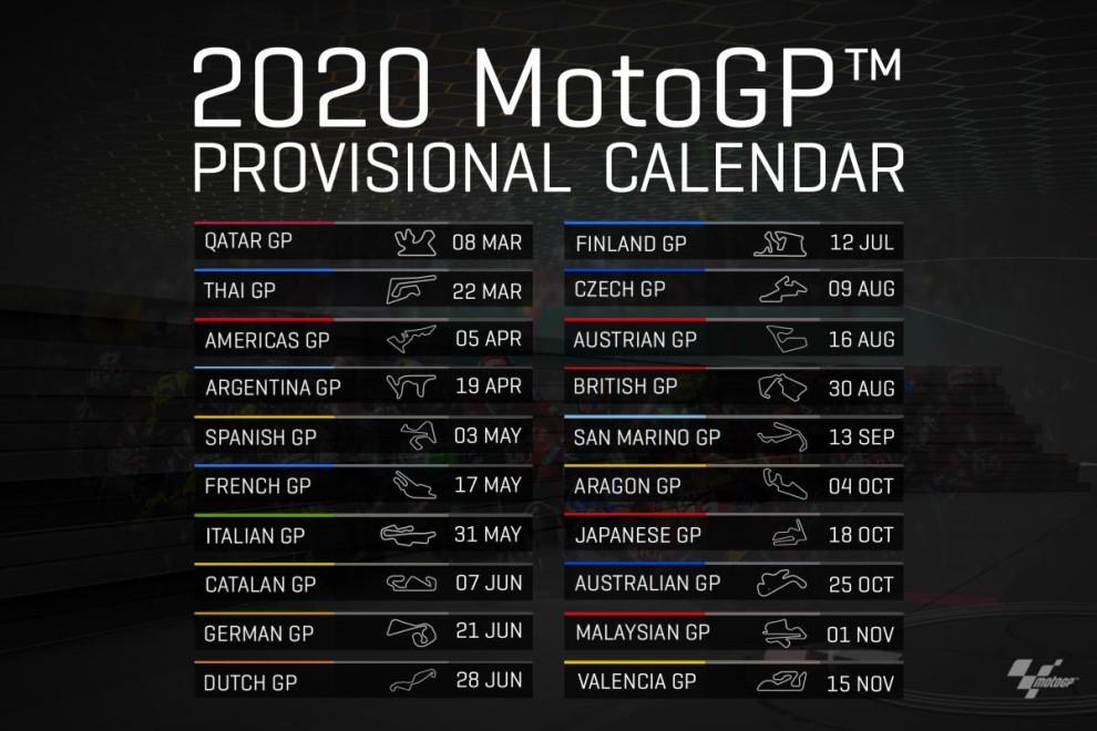 Calendario Moto 2020.El Gran Premio De Aragon De Moto Gp Pasara A Disputarse En